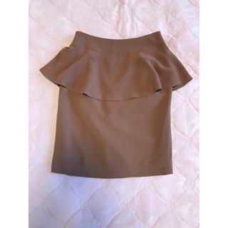 グラスライン(Glass Line)の新品、未使用☆GLASS LINE ペプラムスカート(ひざ丈スカート)