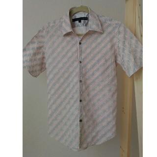シュリセル(SCHLUSSEL)のメンズSCHLUSSELシュリセル 斜めストライプ半袖シャツ★白い花柄 日本製(シャツ)