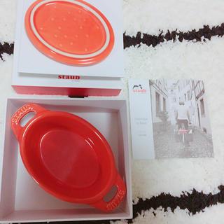 ストウブ(STAUB)のstaub ココットオーバル(オレンジ)(調理道具/製菓道具)