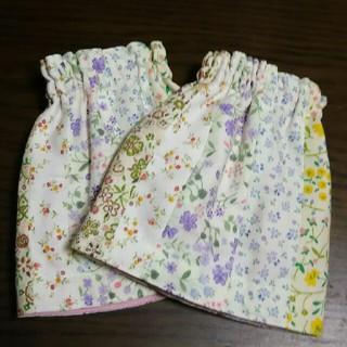 花柄パッチワーク 腕カバー(手袋)