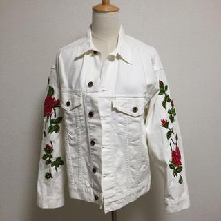 オフホワイト(OFF-WHITE)のoff-white diag roses over jacket 白 XXS(Gジャン/デニムジャケット)
