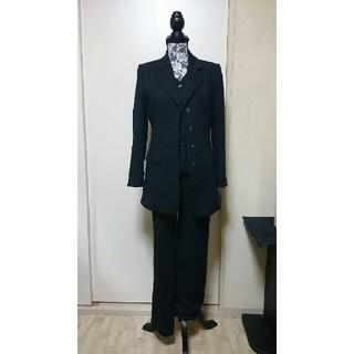ザジ(ZAZIE)のレディース パンツスーツ 3点セット  黒 フォーマルにも (スーツ)