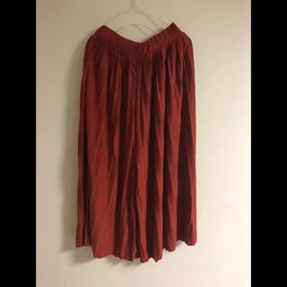 オルベネ(ORBENE)のプリーツスカート パンツスカート ガウチョ スカンツ gu(カジュアルパンツ)