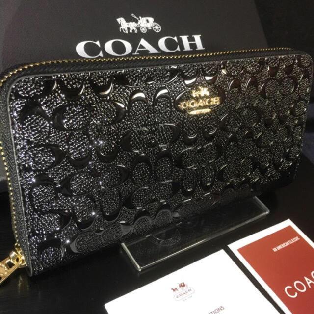 9b52951bb570 COACH - 限定セール❣ 新品コーチ長財布F54805 美しいエナメル ...