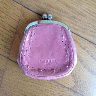 コムサデモード(COMME CA DU MODE)のコムサコインケース小銭入れピンクがま口(コインケース)