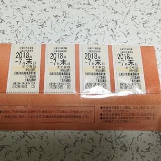 近鉄 株主優待 乗車券(鉄道乗車券)