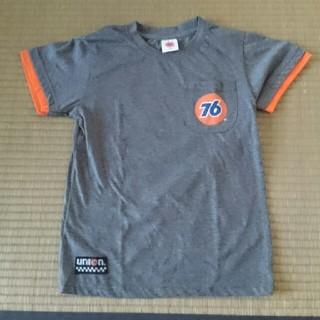 セブンティーシックスルブリカンツ(76 Lubricants)の美品 140㎝ 76 半袖Tシャツ グレー 男の子(Tシャツ/カットソー)