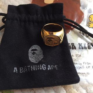 アベイシングエイプ(A BATHING APE)の週末限定値下げ!【美品】 APE リング(リング(指輪))