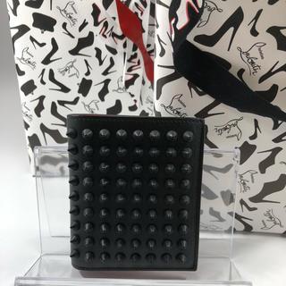 クリスチャンルブタン(Christian Louboutin)のルブタン  二つ折り スパイク 財布 新品 未使用(折り財布)