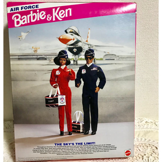 バービー(Barbie)のGIジョー好きさんにも⁈「エアフォース」バービー&ケン 未開封(ぬいぐるみ/人形)