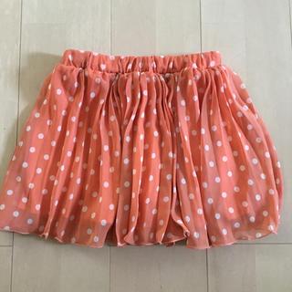 イングファースト(INGNI First)の140サイズ イングファースト プリーツスカート オレンジ シフォン (スカート)