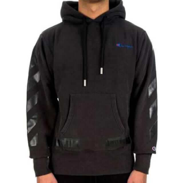 off white champion hoodie