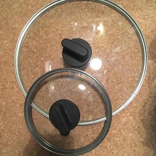 ムジルシリョウヒン(MUJI (無印良品))の無印良品 鍋 ガラス蓋 2個セット(鍋/フライパン)