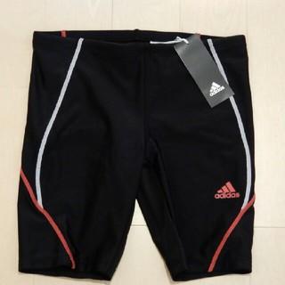 アディダス(adidas)の新品・未使用 adidas ジュニア 水着 160 黒 × 赤(水着)