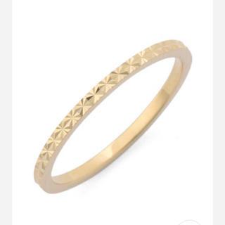 ココシュニック(COCOSHNIK)の値下げ✨COCOSHNIK  カットワーク極光細ピンキーリング(リング(指輪))