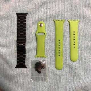 アップル(Apple)のApple Watch 38mm スポーツバンド  & 金属 ベルト(ラバーベルト)