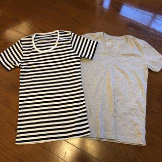 ムジルシリョウヒン(MUJI (無印良品))の無印 Tシャツ 2枚  xsサイズ 4月7日まで(Tシャツ(半袖/袖なし))
