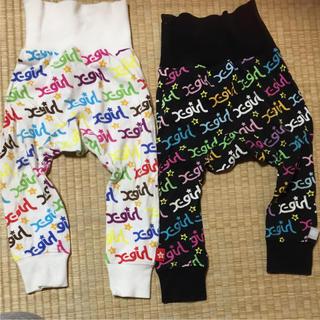 エックスガールステージス(X-girl Stages)のx-girl stages カラフルロゴ パンツ 2枚セット 12M(パンツ)