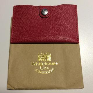 ホワイトハウスコックス(WHITEHOUSE COX)のホワイトハウスコックス カードケース 赤(財布)