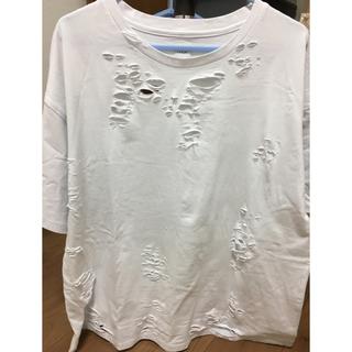 イクミ オーバーサイズダメージTシャツ(Tシャツ(半袖/袖なし))