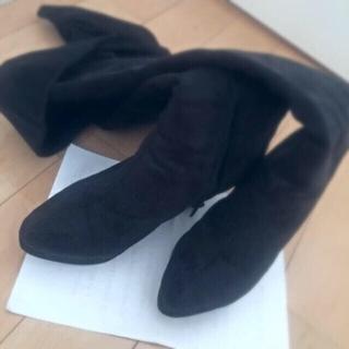 ユメテンボウ(夢展望)のサイハイ/ニーハイ ブーツ(25.5)(ブーツ)
