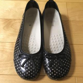 【梅雨対策に】ドット柄レインシューズ L(レインブーツ/長靴)