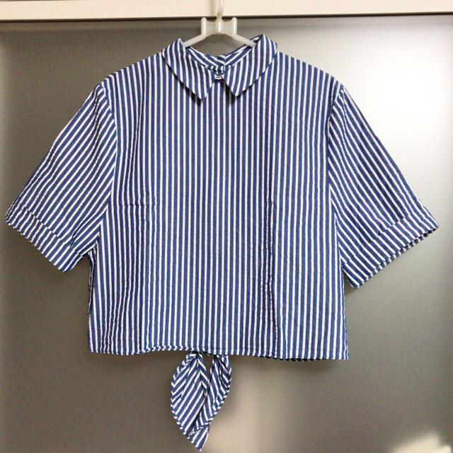 ZARA(ザラ)のZARA✴ ブルーストライプシャツ レディースのトップス(シャツ
