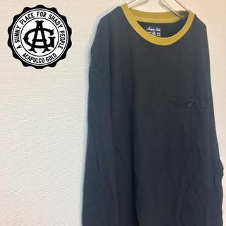 アカプルコゴールド(ACAPULCO GOLD)のAcapulcoGold メンズ Tシャツ L デカロゴ オーバーサイズ シャツ(Tシャツ/カットソー(七分/長袖))