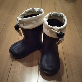 ムジルシリョウヒン(MUJI (無印良品))の無印良品 長靴 12-13cm ネイビー(長靴/レインシューズ)