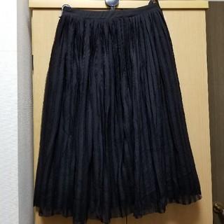ジエンポリアム(THE EMPORIUM)の黒 チュールスカート(ひざ丈スカート)