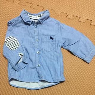 エイチアンドエム(H&M)のH&M 水色シャツ 70(シャツ/カットソー)