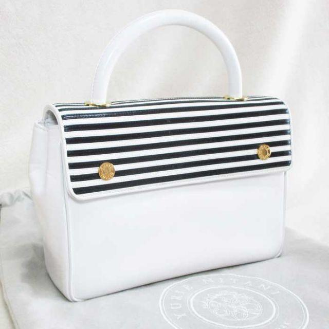 YURIE NITANI ユリエニタニ ハンドバッグ レザー ホワイト レディースのバッグ(ハンドバッグ)の商品写真