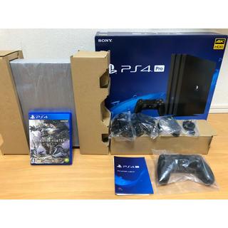プレイステーション4(PlayStation4)のPlayStation 4 Pro  1TB モンハン付き 極美品(家庭用ゲーム機本体)