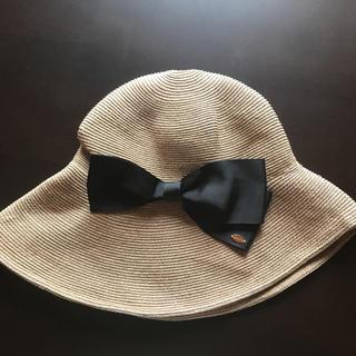 トッカ(TOCCA)のTOCCA トッカ 帽子 リボン(麦わら帽子/ストローハット)