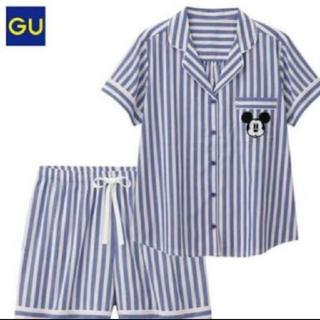 ジーユー(GU)のGU ミッキー 半袖パジャマ コットン100% Mサイズ(パジャマ)