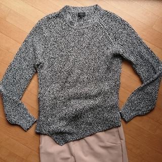 ジョゼフ(JOSEPH)のJOSEPH  M 新品未使用 黒白混ざり糸コットンセーター(ニット/セーター)