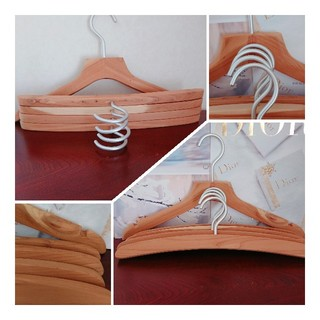 ムジルシリョウヒン(MUJI (無印良品))の木製ハンガー☆無印良品❁ナチュラル 送料込み(押し入れ収納/ハンガー)