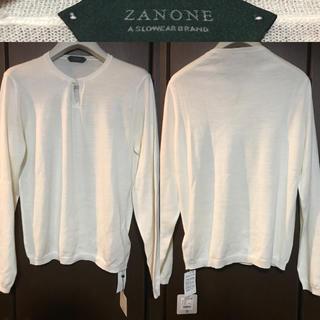 ザノーネ(ZANONE)の【未使用品】ZANONE(ザノーネ)の薄手白サマーウール100%ニット(ニット/セーター)