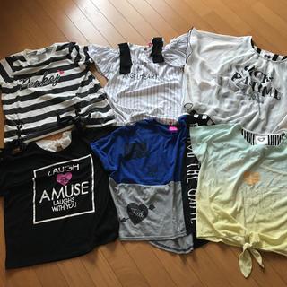 シマムラ(しまむら)の女の子150Tシャツ オフショルダー(Tシャツ/カットソー)