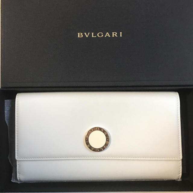 newest d2d2a 207ce ブルガリ BVLGARI 長財布 白 | フリマアプリ ラクマ