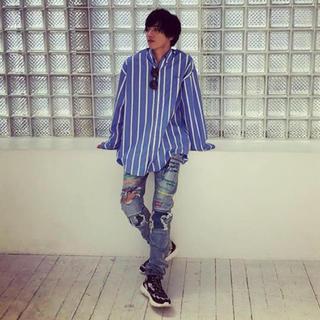 バレンシアガ(Balenciaga)のvetements oversize striped cotton shirt(シャツ/ブラウス(長袖/七分))