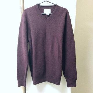エディション(Edition)の【EDITION × H&M】Vネック ニット セーター ワイン ボルドー 羊毛(ニット/セーター)