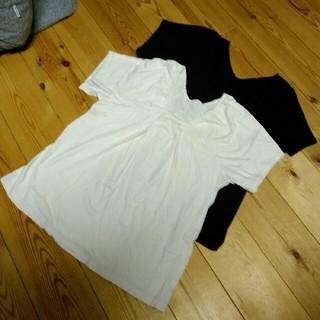 ムジルシリョウヒン(MUJI (無印良品))の無印良品 マタニティTシャツ 2枚セット M〜Lサイズ(マタニティトップス)