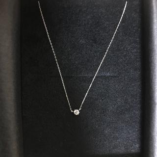 アーカー(AHKAH)の値下げ K18 0.1カラット 1粒ダイヤネックレス(ネックレス)