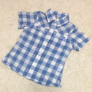 ムジルシリョウヒン(MUJI (無印良品))の100*無印良品薄手チェックシャツ(ブラウス)