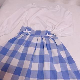 リズリサ(LIZ LISA)のLIZ LISA ギンガムチェックスカート(⚠︎)(ひざ丈スカート)