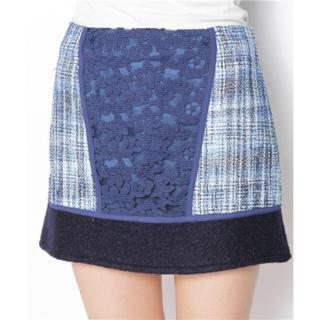 マーキュリーデュオ(MERCURYDUO)の美品 マーキュリーデュオ ツイードスカート(ミニスカート)