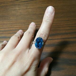 ディープブルーのアンティークリング(リング(指輪))
