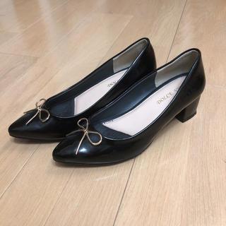 シマムラ(しまむら)の新品 レインシューズ  Mサイズ ブラック(レインブーツ/長靴)