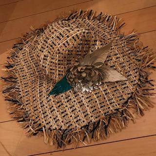 ミサハラダ(misaharada)のミサハラダ misaharada ハット コサージュ付き麦わら帽子(麦わら帽子/ストローハット)